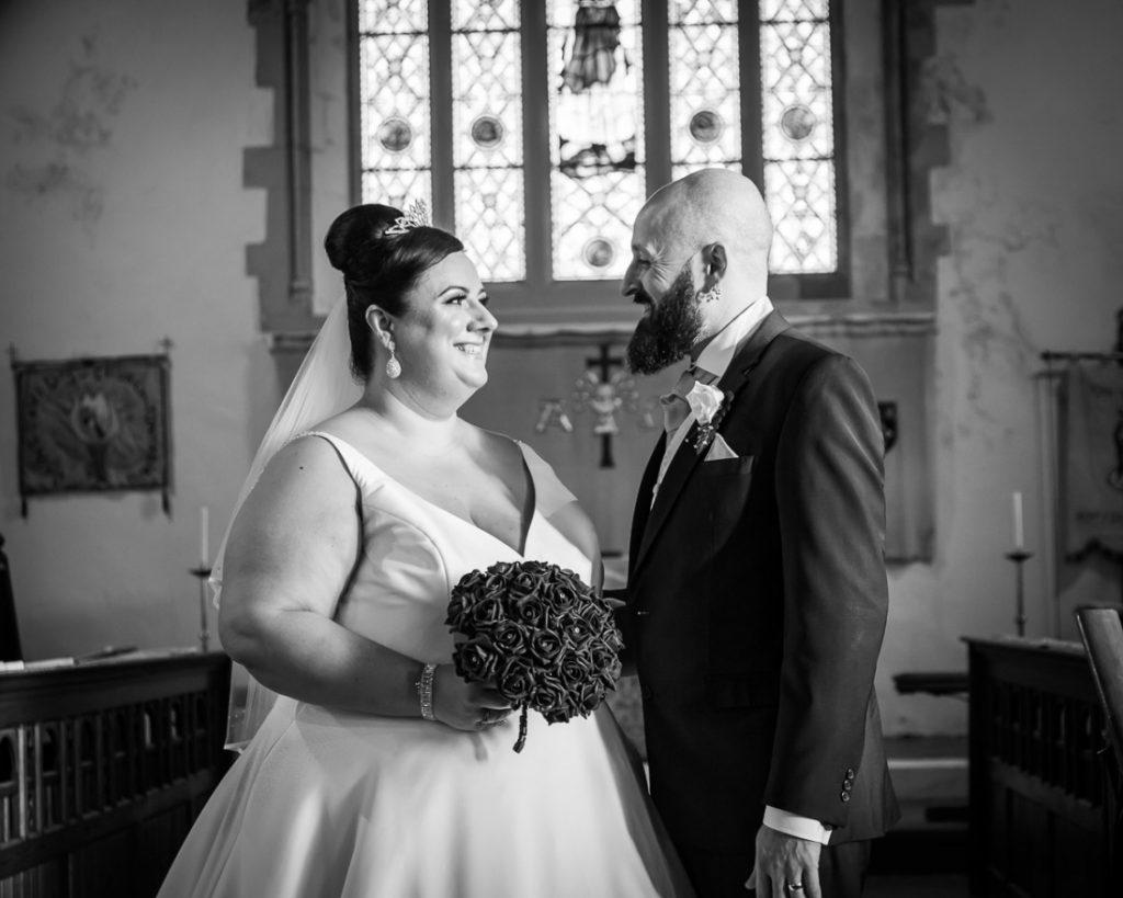 Natasha and David Wedding Photography, bride and groom, church wedding, St Davids Church Tonyrefail, bride and groom
