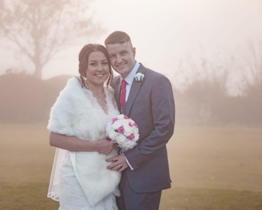 Elyssa & Charlies Wedding Photography from Cottrell Park Golf Club, Marquee Wedding, Winter Wedding, Bride and groom